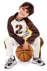 Boy with Basketball Image