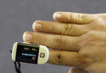 home finger pulse oximeter